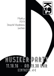 Musiker-Party @ Kulturzentrum K19 | Kassel | Germany