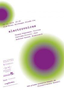"""electrovoices - Konzert in der Reihe """"Plasma-Konzerte"""" @ Club UNTEN   Kassel   Hessen   Deutschland"""